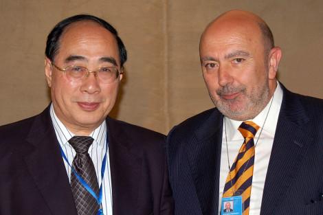 Con el Secretario General Adjunto de Naciones Unidas.